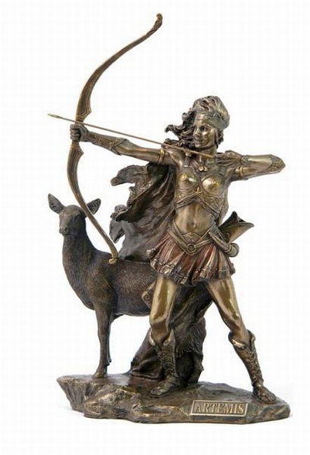 A statue of Artemis the Hunter
