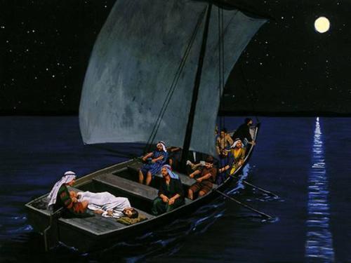 Jesus Sleeping in the boat