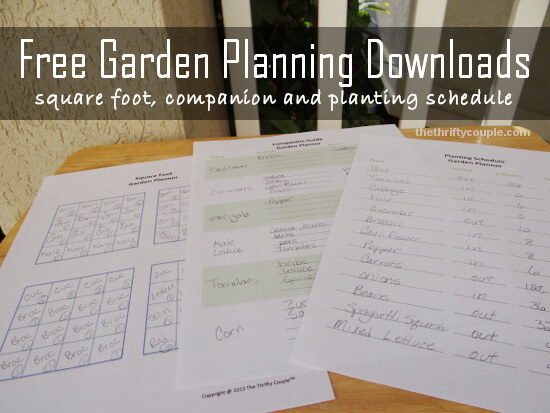 Vegetable Garden Planner Printables on Patio Planner id=59696