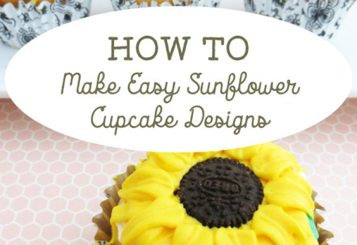 How To Make Easy Sunflower Cupcakes Designs With Mini Oreo Centers