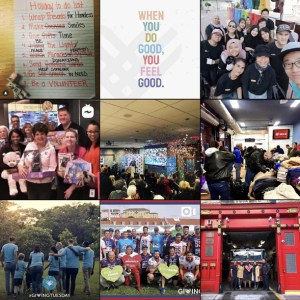 3x3 photo grid from Giving Tuesday instagram profile.