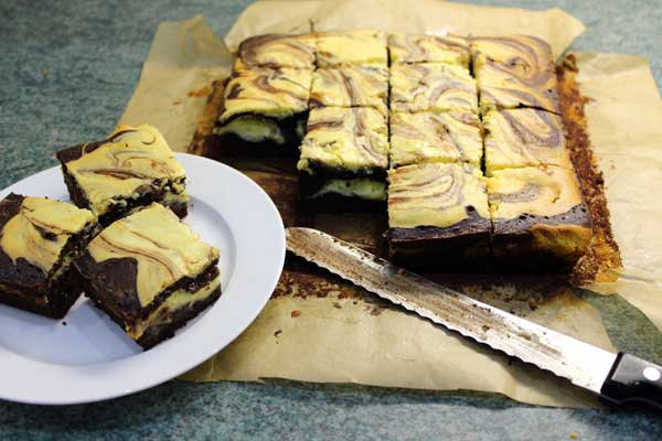 chocolate orange cheesecake brownies