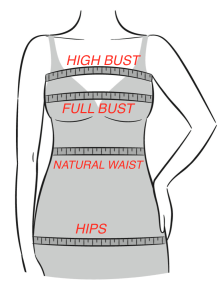 How to choose a correct skirt/trouser pattern size using body measures and finished garment sizes