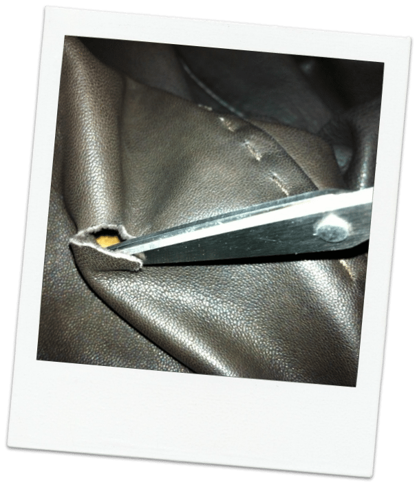 How to fix a hole in leather