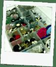 clear plastic storage trays