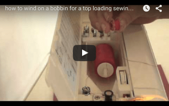 Learn to sew- winding on a bobbin and threading up