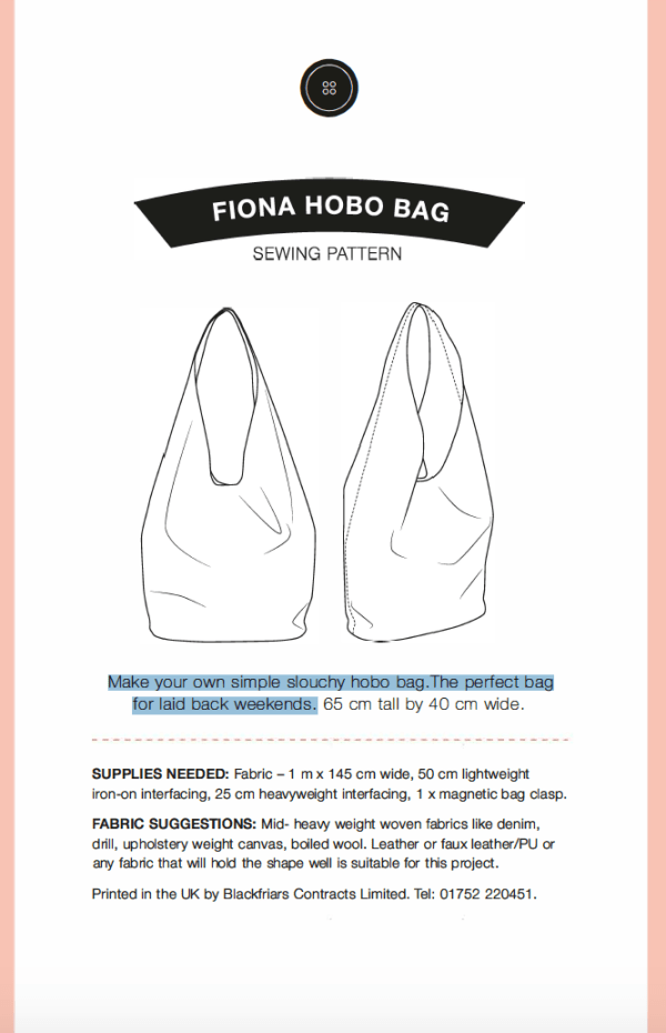 Fiona Hobo bag Pattern
