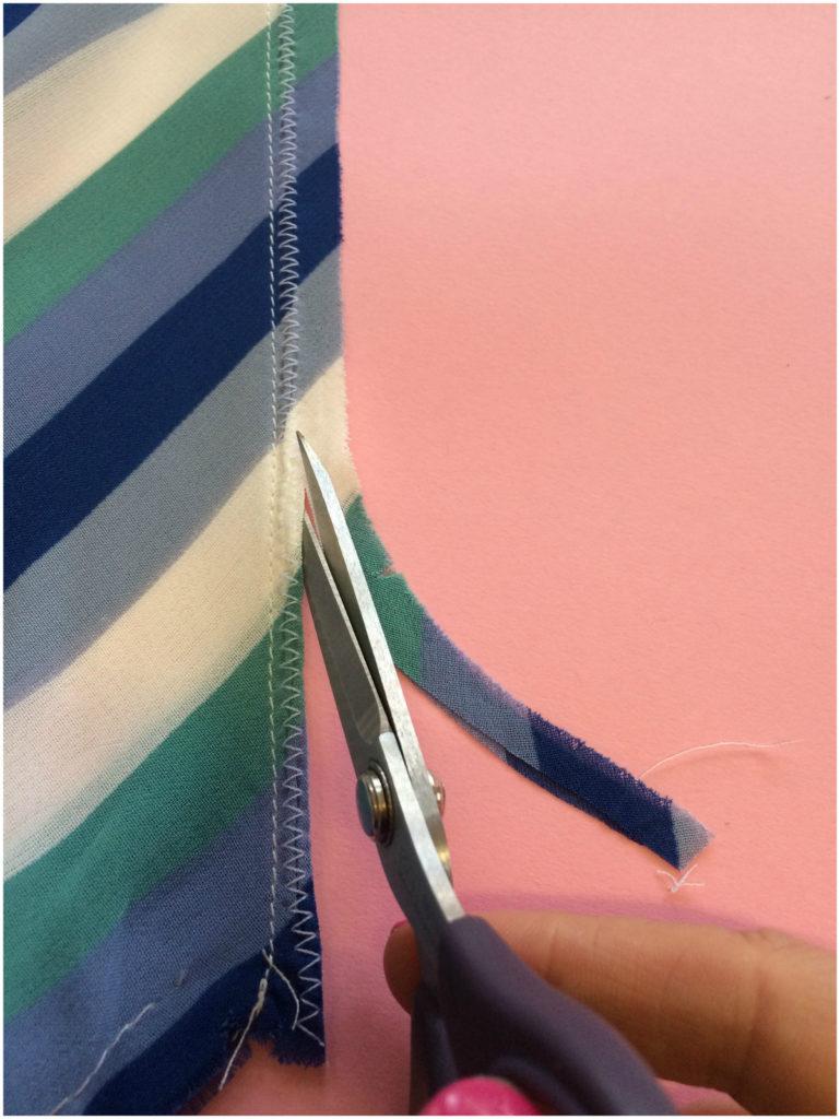 hairline seam finish #GBSB bias cut top