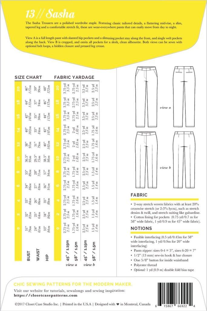 Sasha Trousers- pattern detail