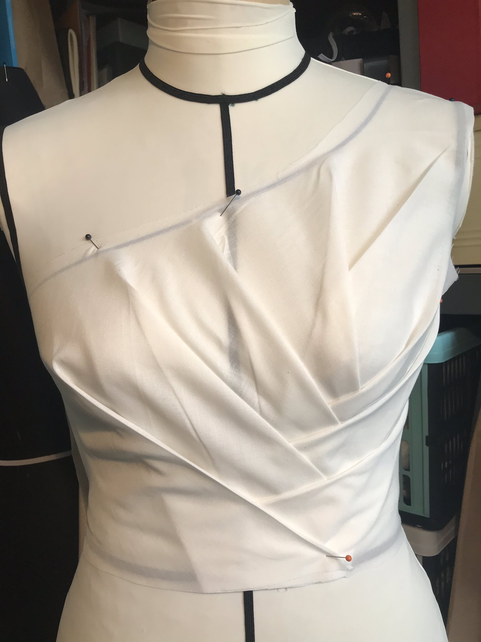 Draping masterclass Part 1- pleated top