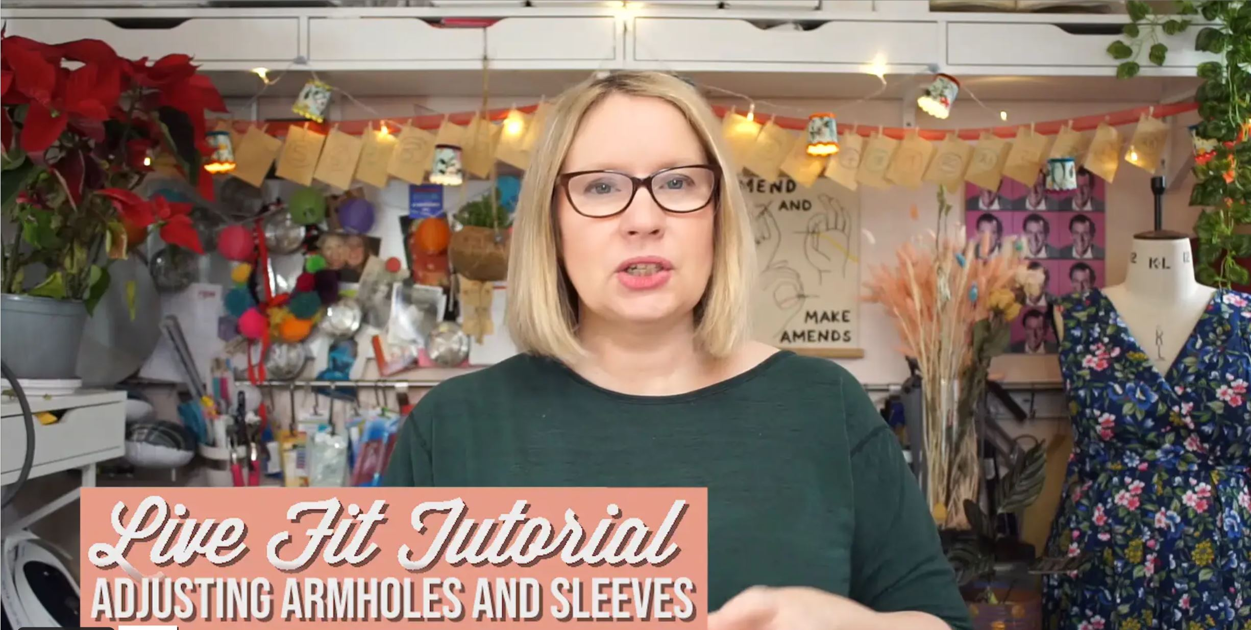 New Video lessons via Vimeo on demand #1-fitting sleeves and armholes
