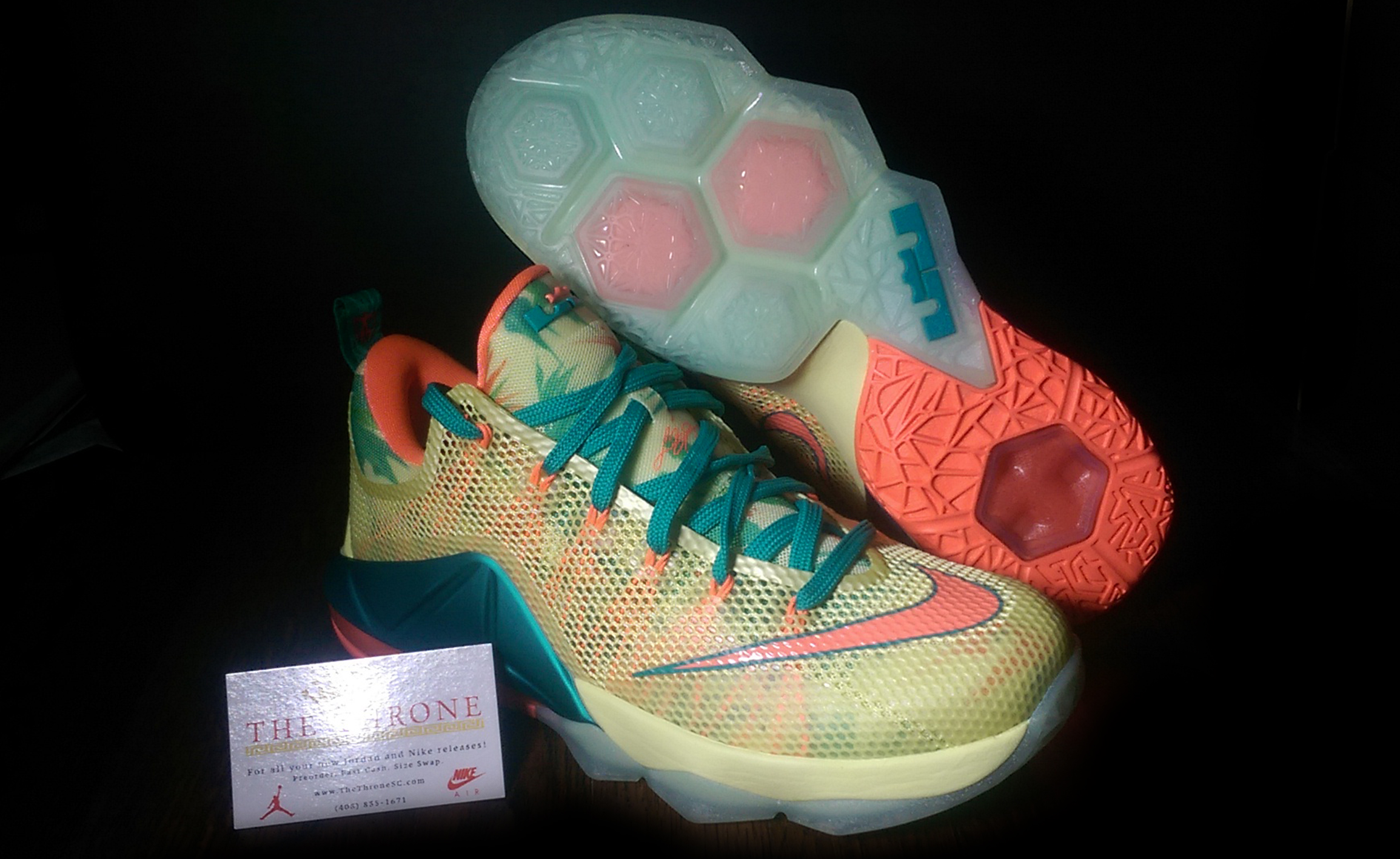 "detailed look 2f499 df51f Nike LeBron 12 Low PRM ""Lebronold Palmer"""