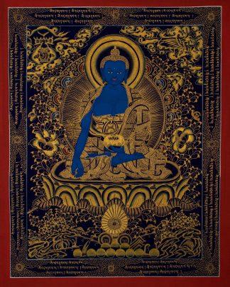 Medicine Buddha - Handmade Thangka Painting from N