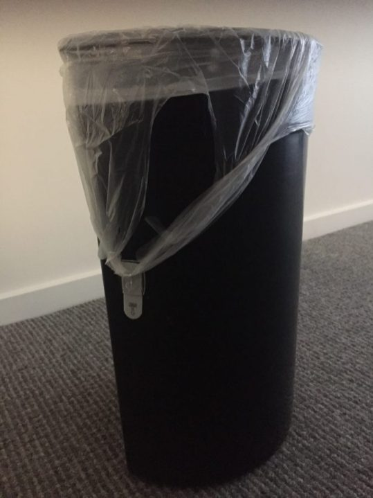 , The smart way to use plastic bags with handles in rubbish bins., The Tidy Lady, The Tidy Lady