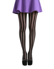 Pamela Mann Solid Sheer Vertical Stripe Tights