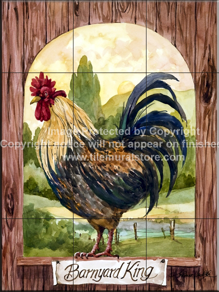Rooster Tile Murals Rooster Accent Tiles Decorative Rooster Tiles Thetilemuralstores Blog