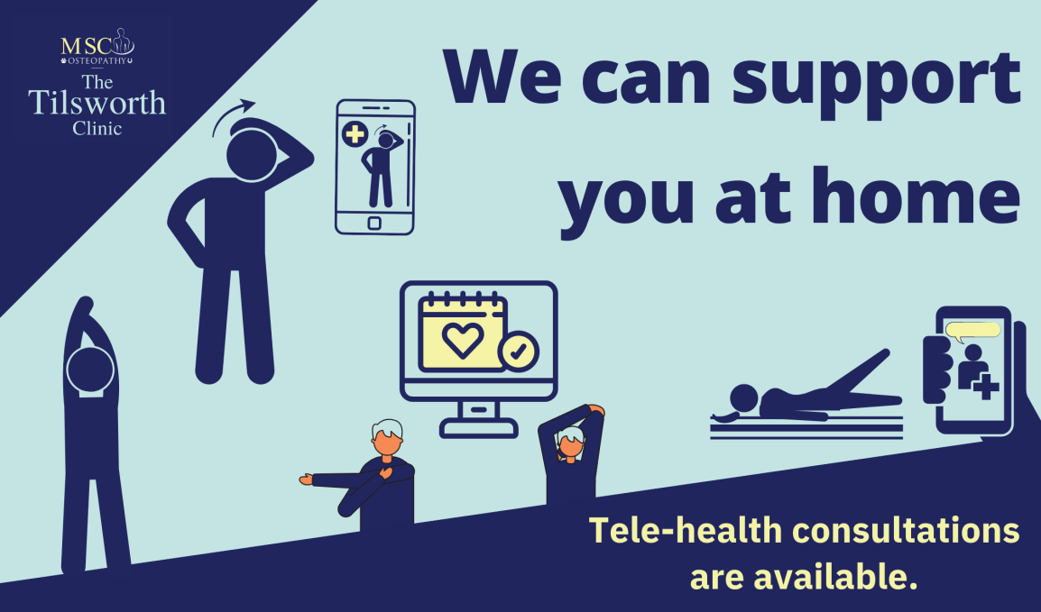 Osteopaths tele-health consultations  Telephone and video consultations  The Tilsworth Clinic - Osteopathy