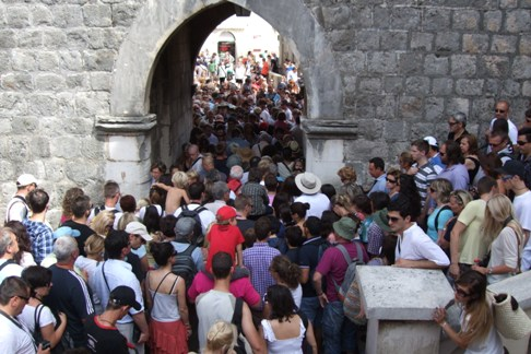 Queuing for ice cream in Dubrovnik?
