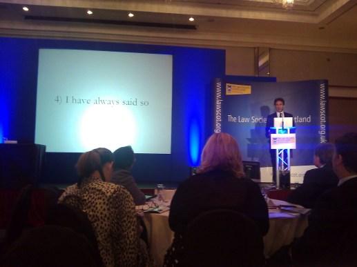 Richard Susskind - Law in Scotland 2013