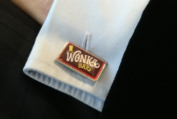 Willy Wonka - Wonka Bar Cufflinks