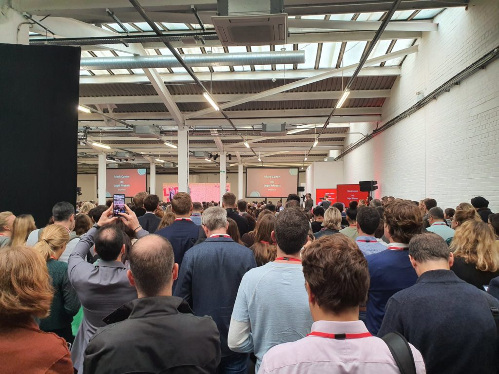 Legal Geek 2019 - Crowded audience from the back