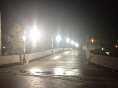 The famous bridge here looks so mystical at night