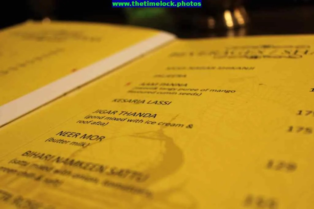 menu masala trail