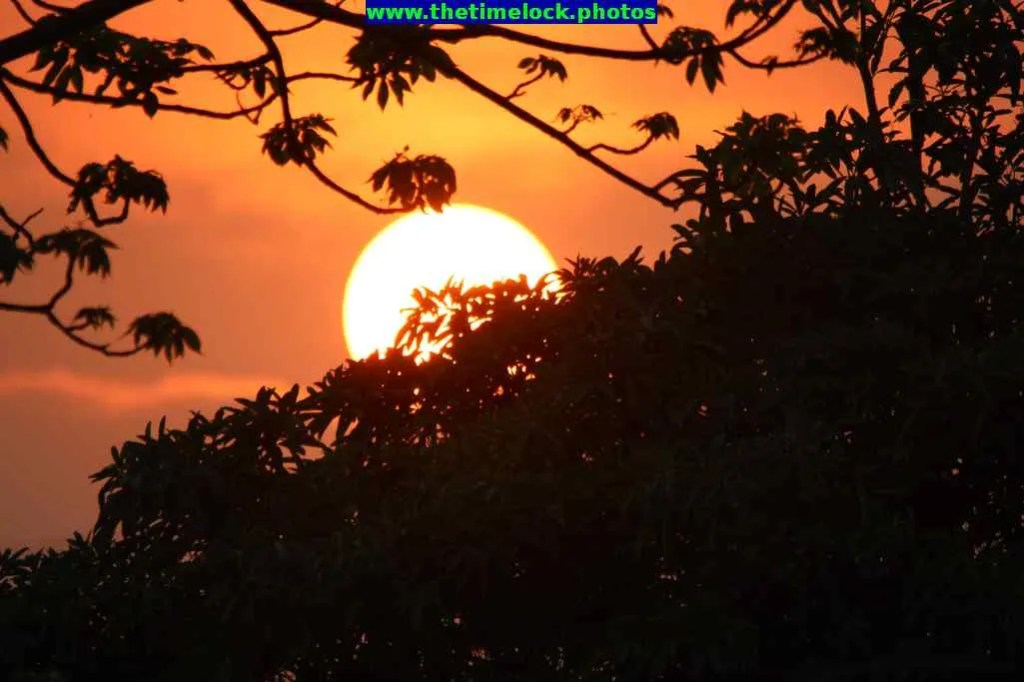 Fiery sunset at Tezpur