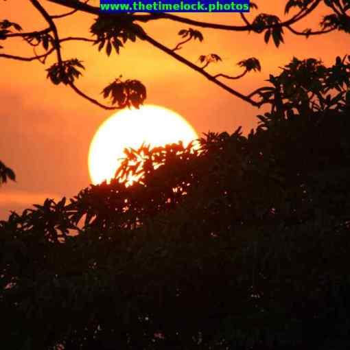 Fiery sunset at Tezpur