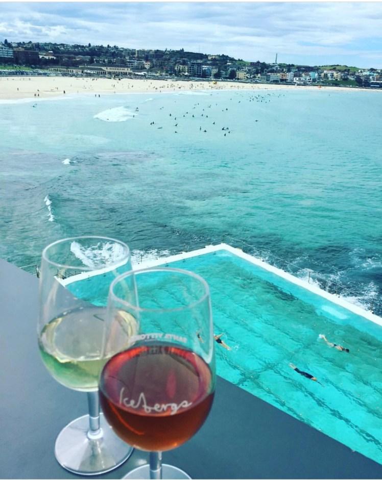 Happy Clients Enjoying Adult Beverages at Bondi Beach