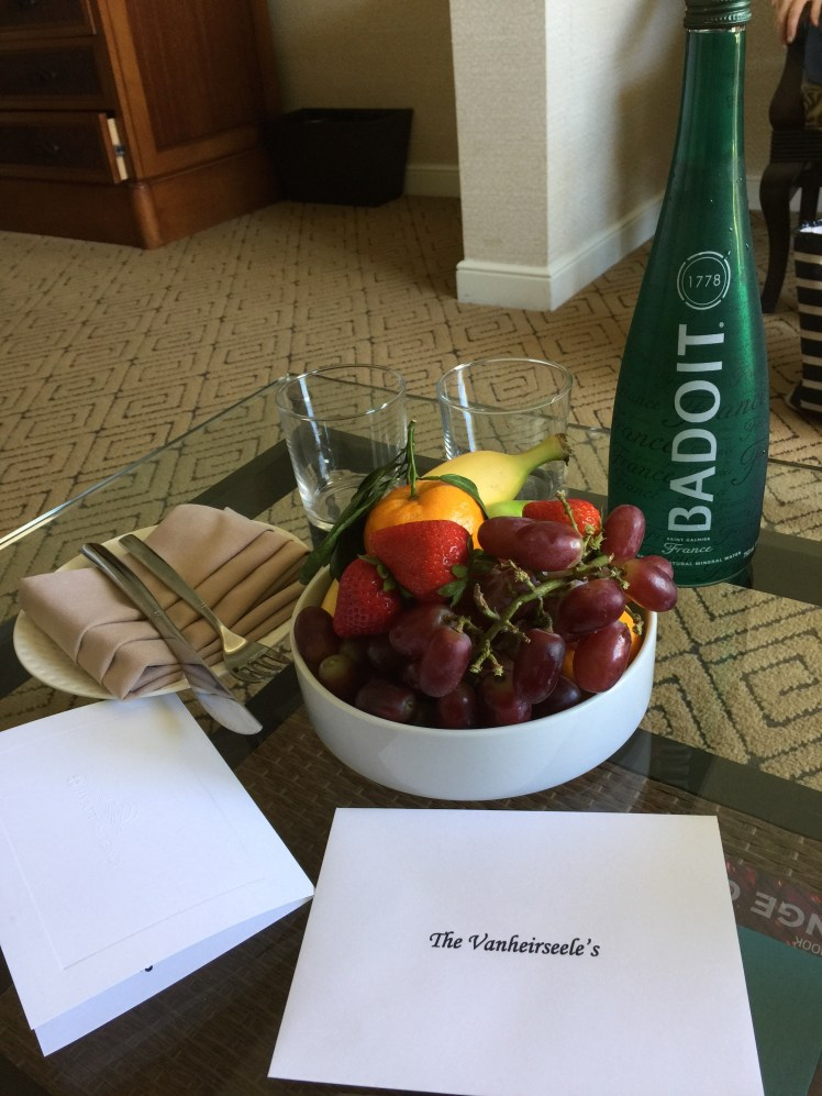 Fresh Fruit and Sparkling Water to Celebrate