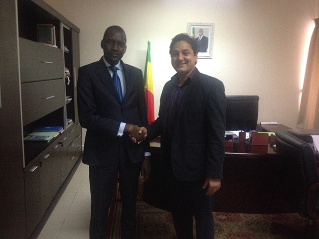 The Hon'ble Minister of Telecom, Senegal with the Publisher