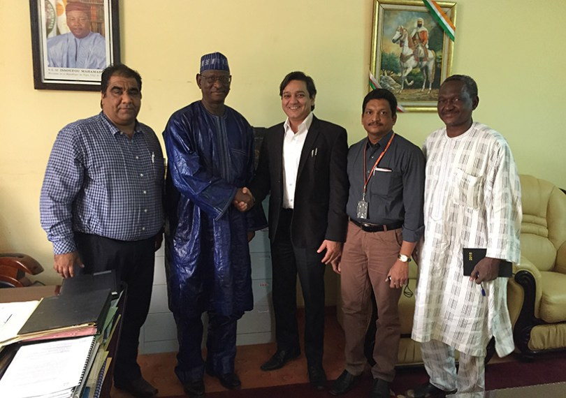 The Hon'ble Minister of Youth, Niger with the CEO & Executive Chairman