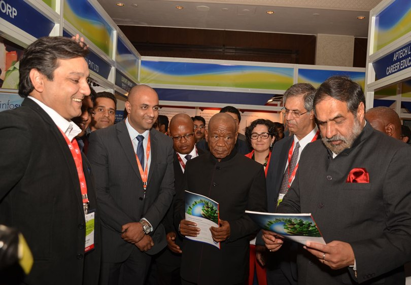 Team TOA with Prime Minister of Lesotho & Mr Anand Sharma, Minister of Trade, India