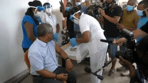 covid vaccination starts in Seychelles