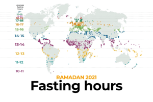 Ramadan 2021: Fasting hours around the world