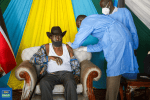President Salva Kiir jabbed with AstraZeneca vaccine!