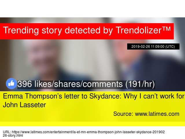 Emma Thompson S Letter To Skydance Why
