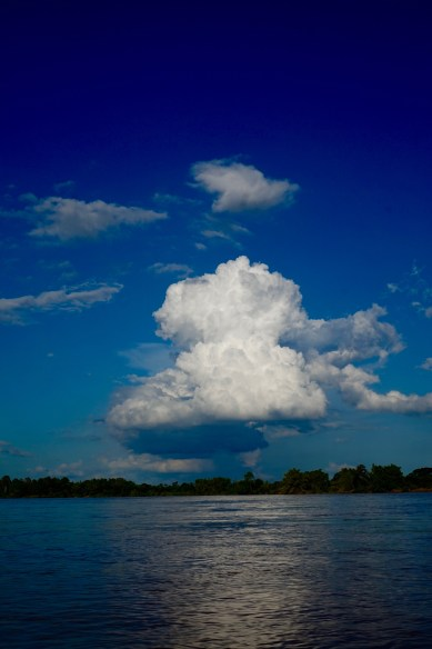 An angry cloud cruises by