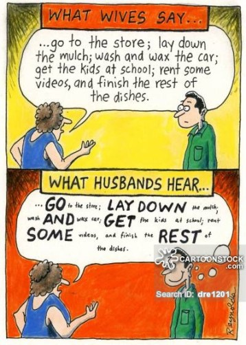 What wives say...what husbands hear...