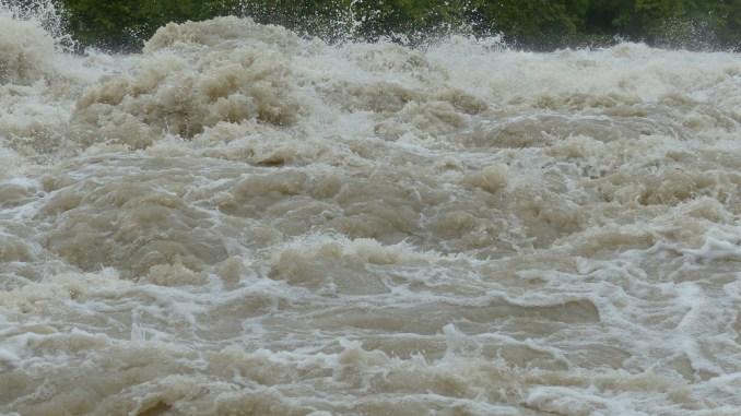 Queensland Floods Water surge