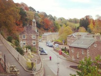 New Lanark Village in Autumn