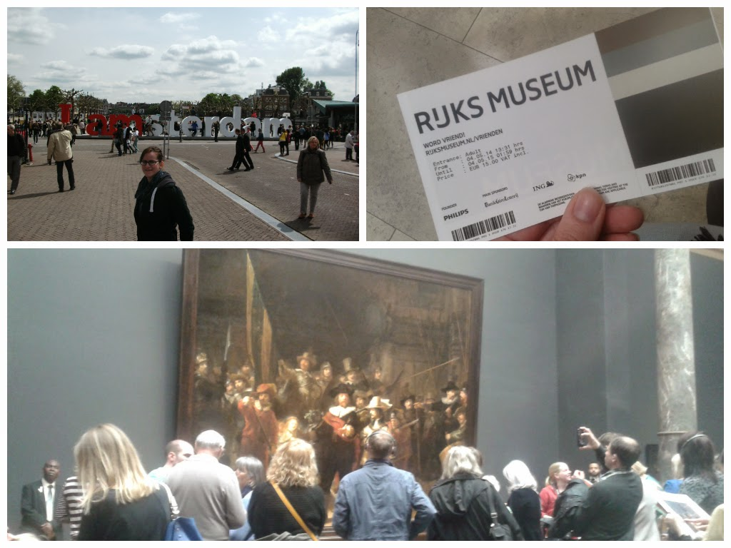 I amsterdam and the Rijksmuseum in Amsterdam, Netherlands