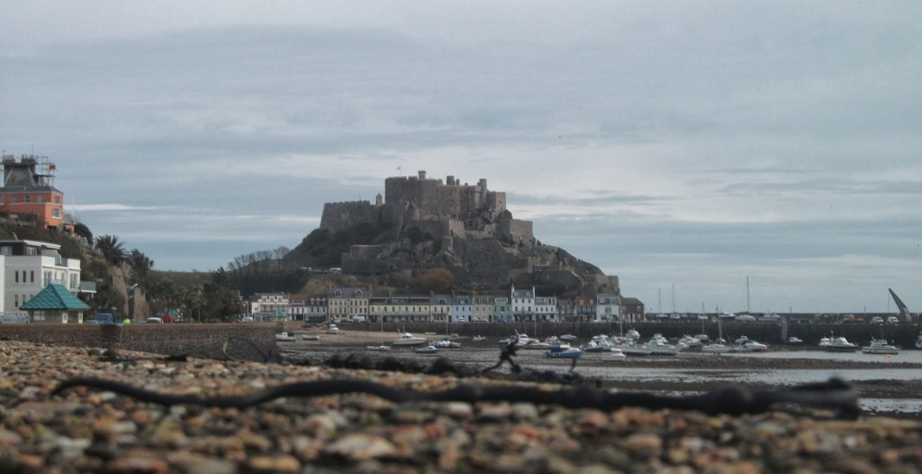 Mont Orgueil from Gorey Harbour