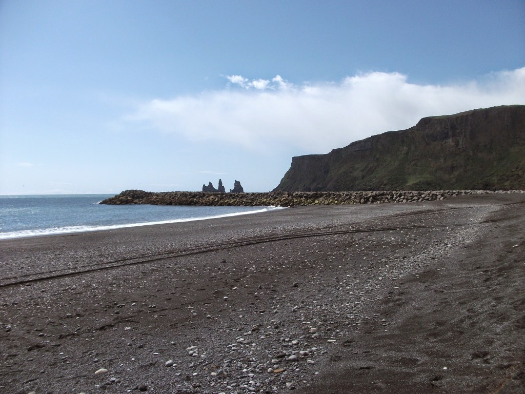 Black beaches of Vik and the Reynisdrangar rocks along the South Coast of Iceland