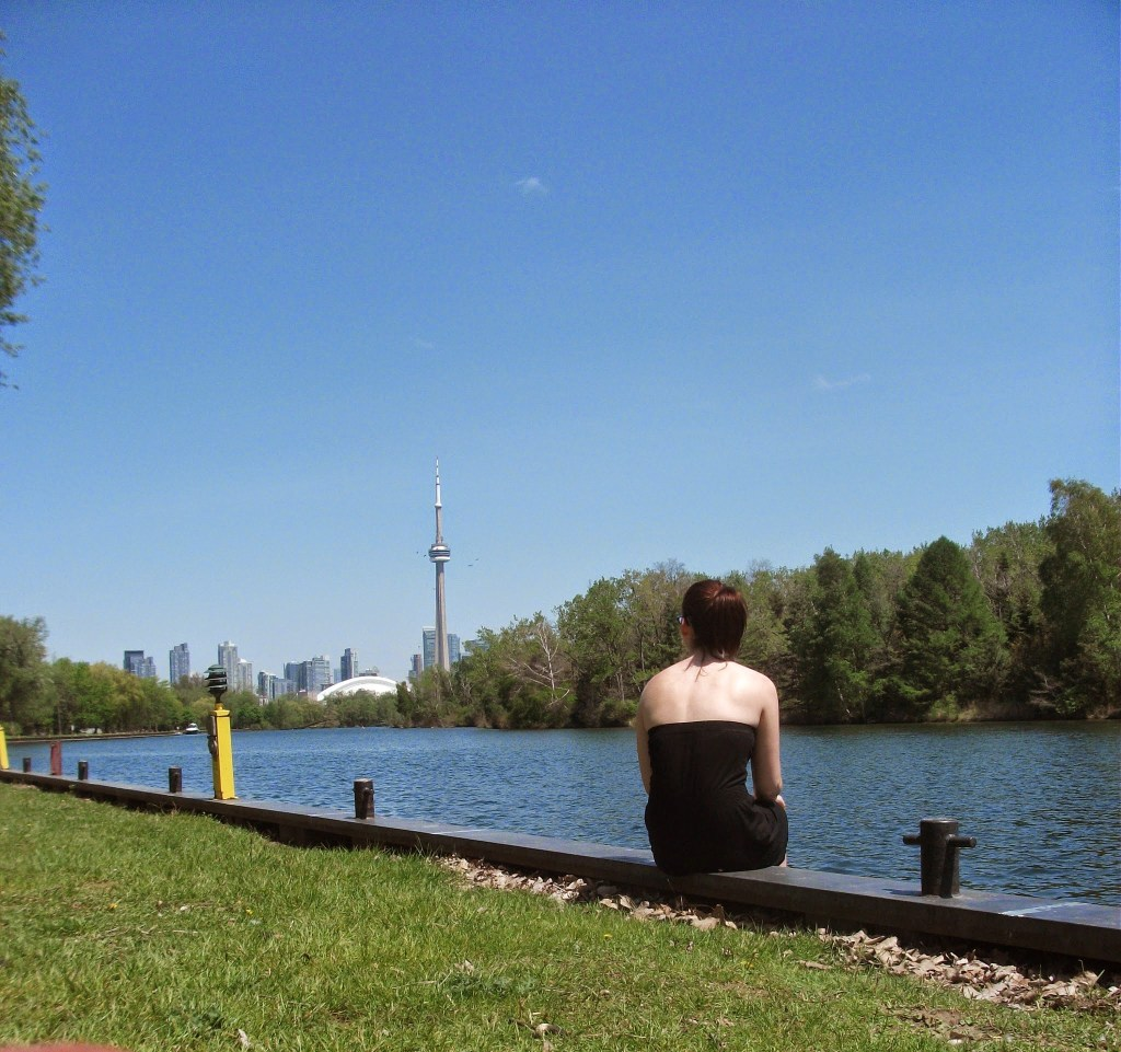 View of the CN Tower from Toronto Islands