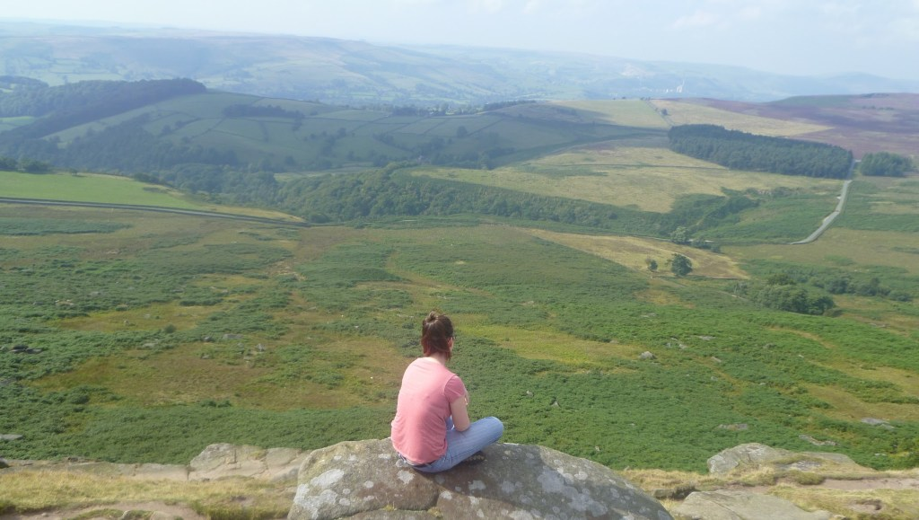 The view from Stanage Edge in the Peak District