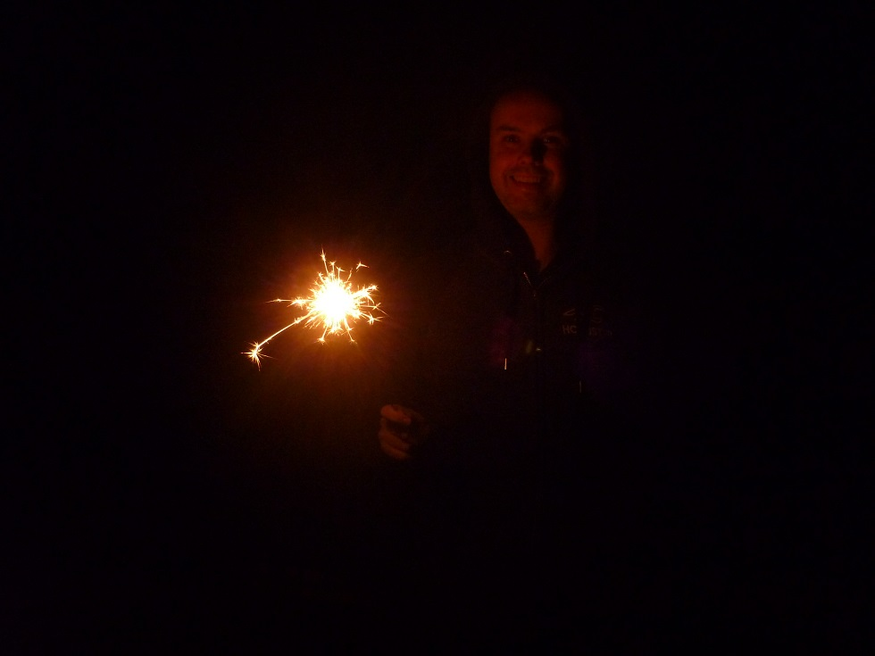 Sparkler on Guy Fawkes Night