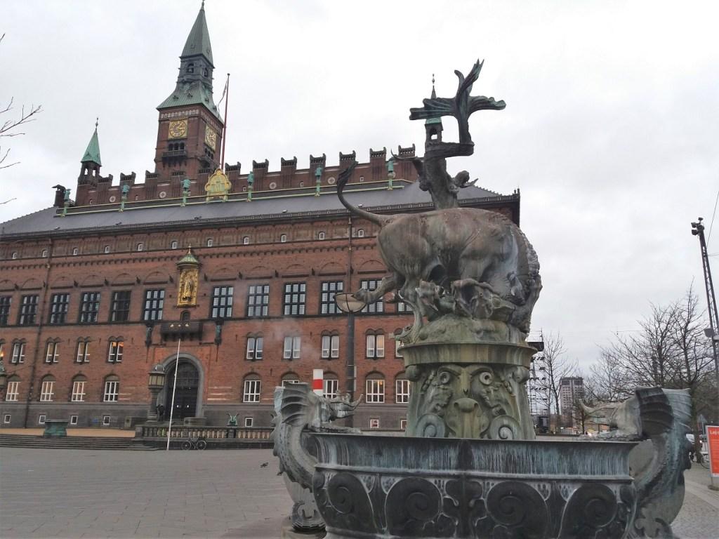 Copenhagen City Hall in Winter