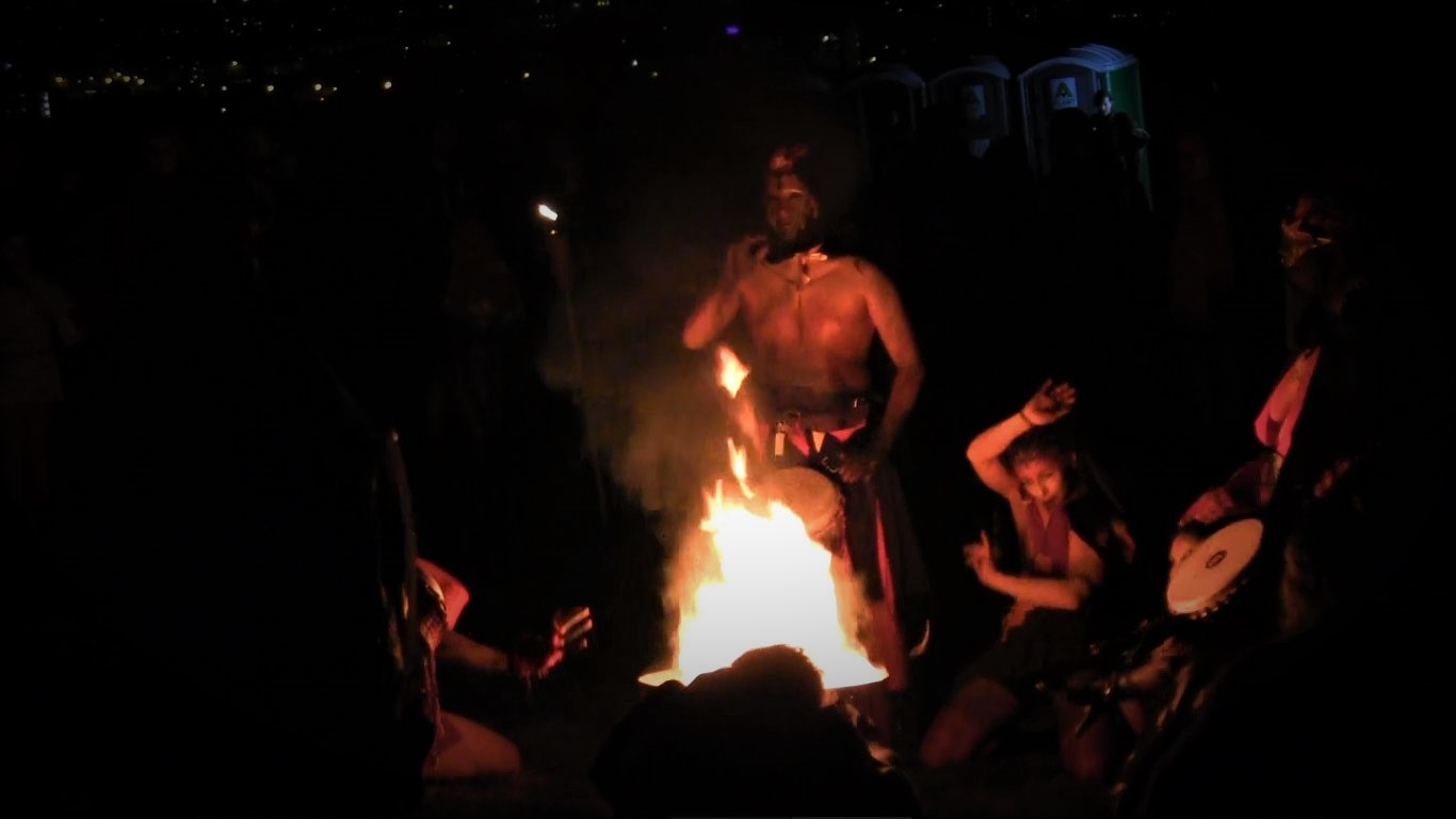 Samhuinn Fire Festival takes place each Halloween in Edinburgh